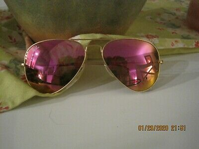 JUST LISTED! DISCOUNTED RAY BAN PINK TINTED AVIATOR (Discount Ray Ban Sunglasses For Men)