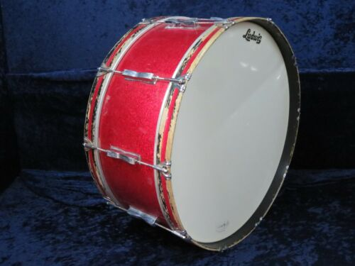 Ludwig Keystone 26 x 10 Marching Bass Drum Ser#613041 Red Sparkle