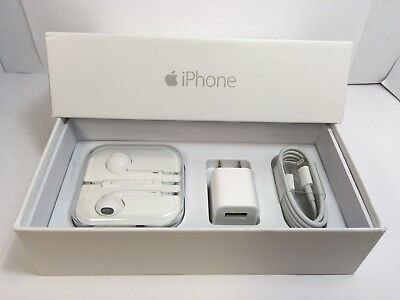 IPHONE 6 PLUS EMPTY RETAIL BOX AND NEW ACCESSORIES plug charger -