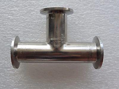Stainless Steel Vacuum Fitting Tee Kf-25 Nw25 3-way 4 X 2.5 2-12