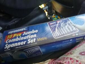 10pce jumbo combination metric Spanner set Alkimos Wanneroo Area Preview