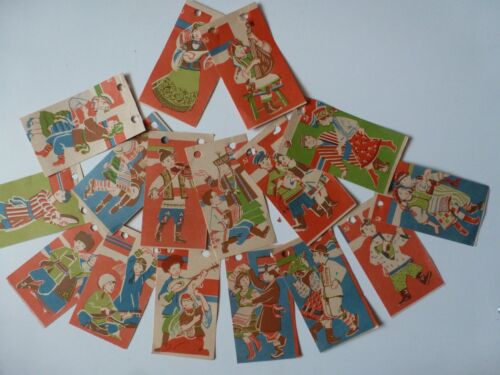 "Paper garland ""Dancing in the Soviet Republics"" USSR original 16 pieces per set"