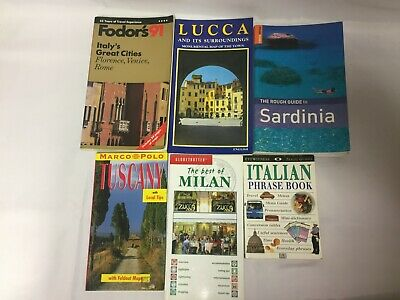 6x Italy Tourism Books Phrase Book Best of Milan Sardinia Lucca Tuscany