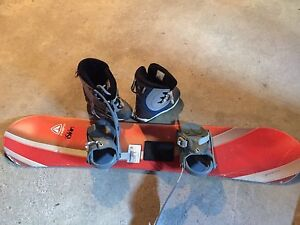 Youth snowboard and boots
