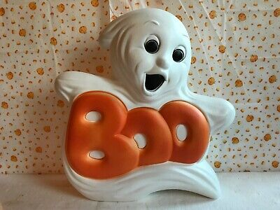 Blow Mold Halloween Decoration Boo Ghost Light Up Grand Venture NEW STOCK