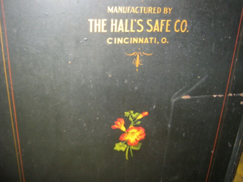 "ANTIQUE LARGE HALL CO.SAFE COMBINATION LOCK N.Y.FRUIT CO.38""HX21""D circa 1906"
