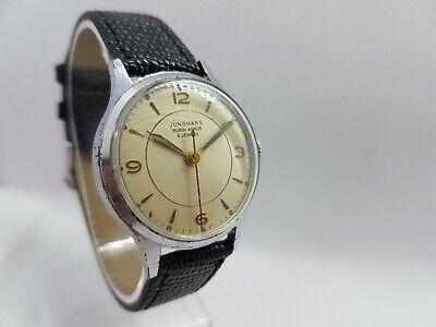 Vintage Very Rare 1940's WWII Era German Gents Junghans Rubin Anker 8 Jewels