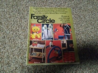 Vintage Family Circle Magazine October 1968 - Halloween - News Stand Edition