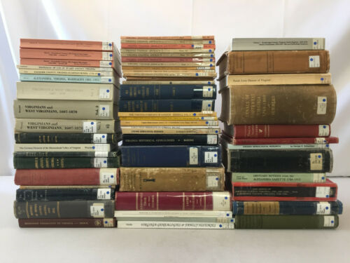 Virginia Genealogy LARGE LOT of 56 County Marriages Pioneers Family Histories