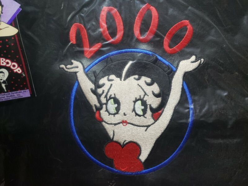 2000 King Features Licensed BETTY BOOP Purse Tote Bag Black embroidered vintage