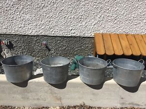 Galvanized Pails With Handles