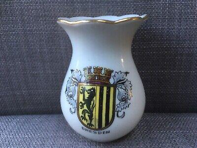 Vintage Kahla Porcelain Bud Vase with Crest of Dresden