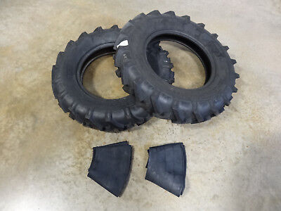 Two New 7.50-18 Bkt As-504 Tractor Lug Tires 8 Ply With Tubes Farm Implement