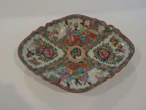 "Early 19th C. Chinese Export ROSE MEDALLION 11.5"" Porcelain Cabinet Bowl"