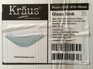 Kraus Vessel Sink with Faucet and Drain