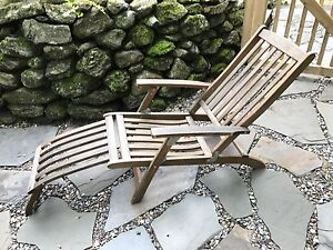 Teak chaise lounge teck lounge chair