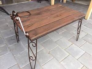 Coffee Table Lamp table wrought iron with Hairpin legs  use indoo Kewdale Belmont Area Preview
