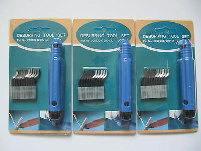 3 Pack Deburring Tool Set Handle With Blades E10010e20010 Seasun