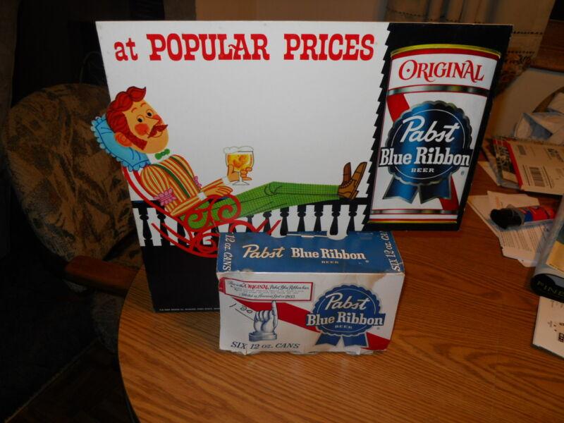 (VTG) 1960s PABST BEER BACK BAR STATUE FIGURE 6 PACK ADVERTISING DISPLAY SIGN