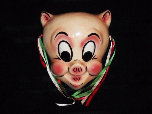 Ceramic Mask Porky Pig Bai-Dotta 1986 Warner Bros Looney Tunes - Awesome!