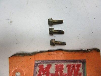 FOR SET OF 3 BOLTS FUEL FILLER TUBE GAS TANK NECK HOSE PIPE TO CAR QUARTER PANEL
