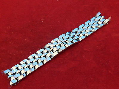 BAUME MERCIER SOLID SS CAPELAND GM AUTOMATIC STRAP BAND BRACELET 19MM TYPE #2