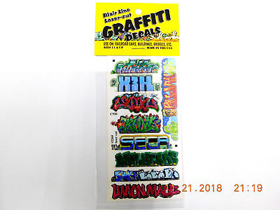 BLAIR LINE LASER CUT GRAFFITI DECALS HO SCALE #2260 SET # 11 Laser Cut Decals