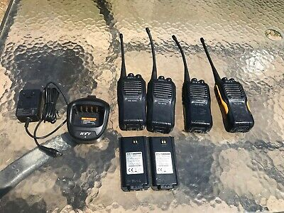 HYT TC-610 Used Lot of 4-Radios 1-Charger 2-Batteries Free Shipping!!
