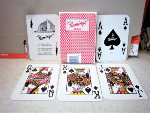 8 decks Vintage LARGE NUMBER Flamingo Cards Used in Real Casino Play