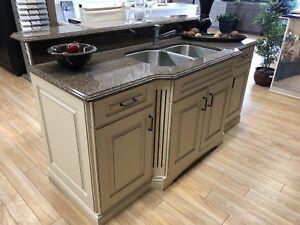 Showroom Island for Sale! Granite top & sink included