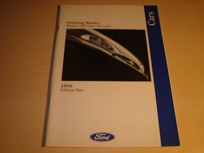 COCHES FORD FIESTA, ESCORT, ORION, MONDEO, GRANADA FOLLETO VENTAS GB 1993 ED.1