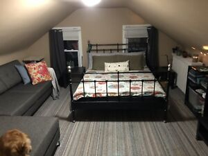 IKEA wrought iron queen sized bed frame