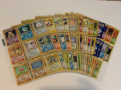 Pokemon Base, Jungle, and Fossil Set Lot of 50 Cards with Extra Gift!