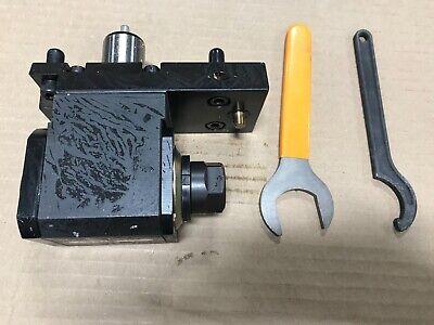 Romi Cnc Lathe Live Tool Brand New - S04807 - Er20 - 90 Deg Set Back Driven Tool