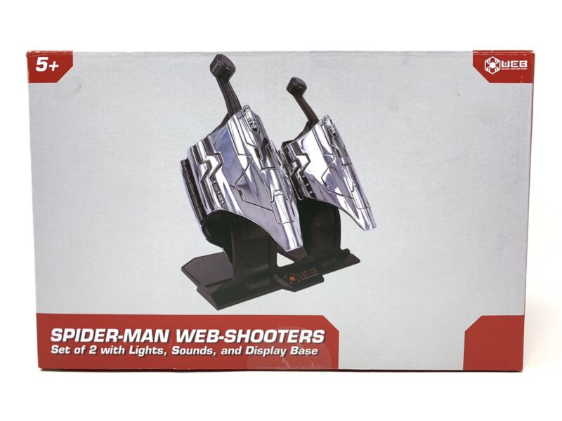 Disney Avengers Campus Spider-Man Web Shooters Set Of 2 With Display Stand - NEW