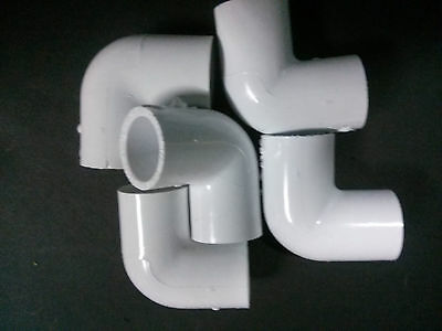 34 Inch Pvc Sched. 40 Elbows 90 Deg. Lot Of 5 Plumbing Sprinkler Made In Usa