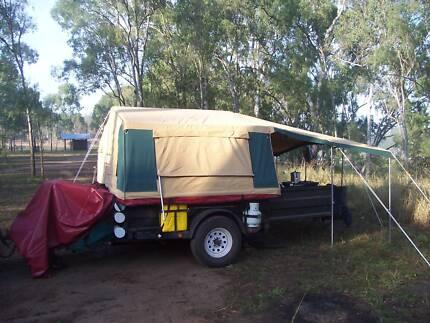 semi, offroad camper trailer.