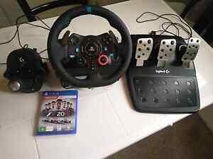 PS4 Logitech Driving simulator set Jerrys Plains Singleton Area Preview