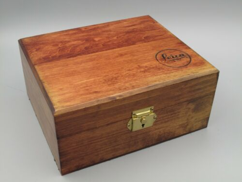 Leica Wooden Box Perhaps for Leitz Trinovid Binoculars (Wood Box Only)
