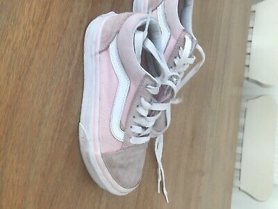 vans kids size 12.5 light pink