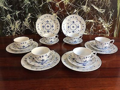 Royal Copenhagen Fluted Ribbed - 18 Parts Tea - Coffee Service/6 People
