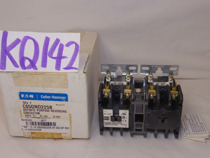 Cutler-Hammer Reversing Definite Purpose Contactors C65 Series C65DND225B C1 new
