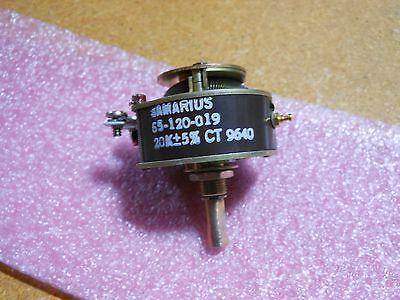 Samarius Variable Resistor 55-120-019 Nsn 5905-01-159-0776