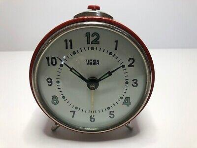 Vintage Vega Alarm Clock - Wind Up 1960's Working