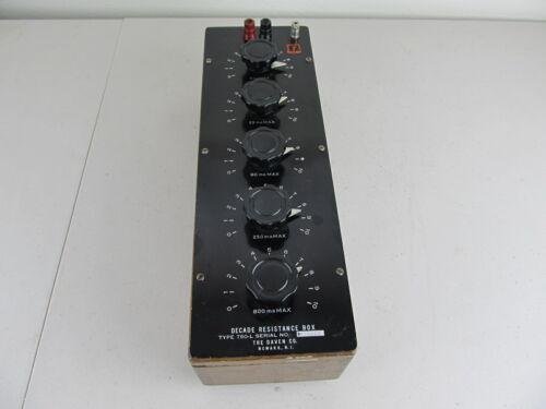 Daven Decade Resistance Box Model 750-L, 1 Ohm to 111.11 K Ohm, 100K, Resistor.