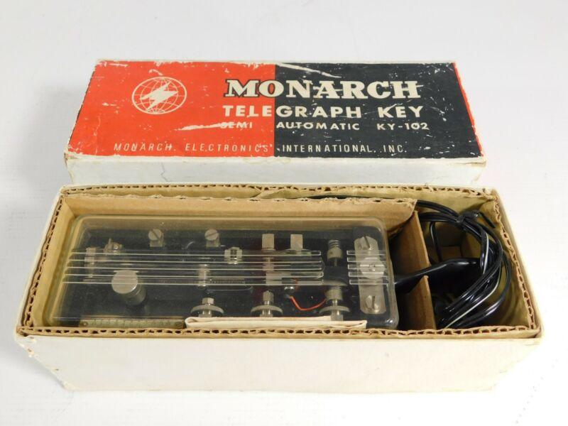 Monarch KY-102 Semi-Automatic Ham Radio CW Telegraph Key w/ Box (nice)