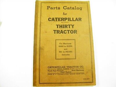 Cat Caterpillar Thirty Tractor S4683-s10536 Ps1-14292 Parts Catalog