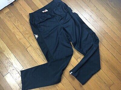 Kappa Track Pants Black Medium Zip Leg Logo On Hip