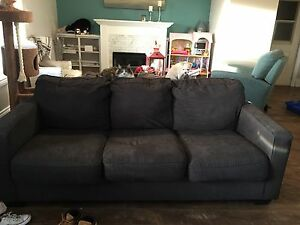 Blue grey couch