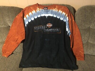 VTG Harley Davidson Cape Fear N.C.Long Sleeve Graphic T-Shirt Mens Size 3XL VGC